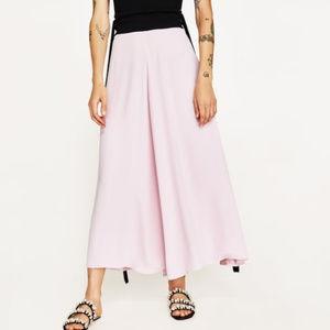 Zara Blush Pink Flowing Palazzo Pants NEW size M